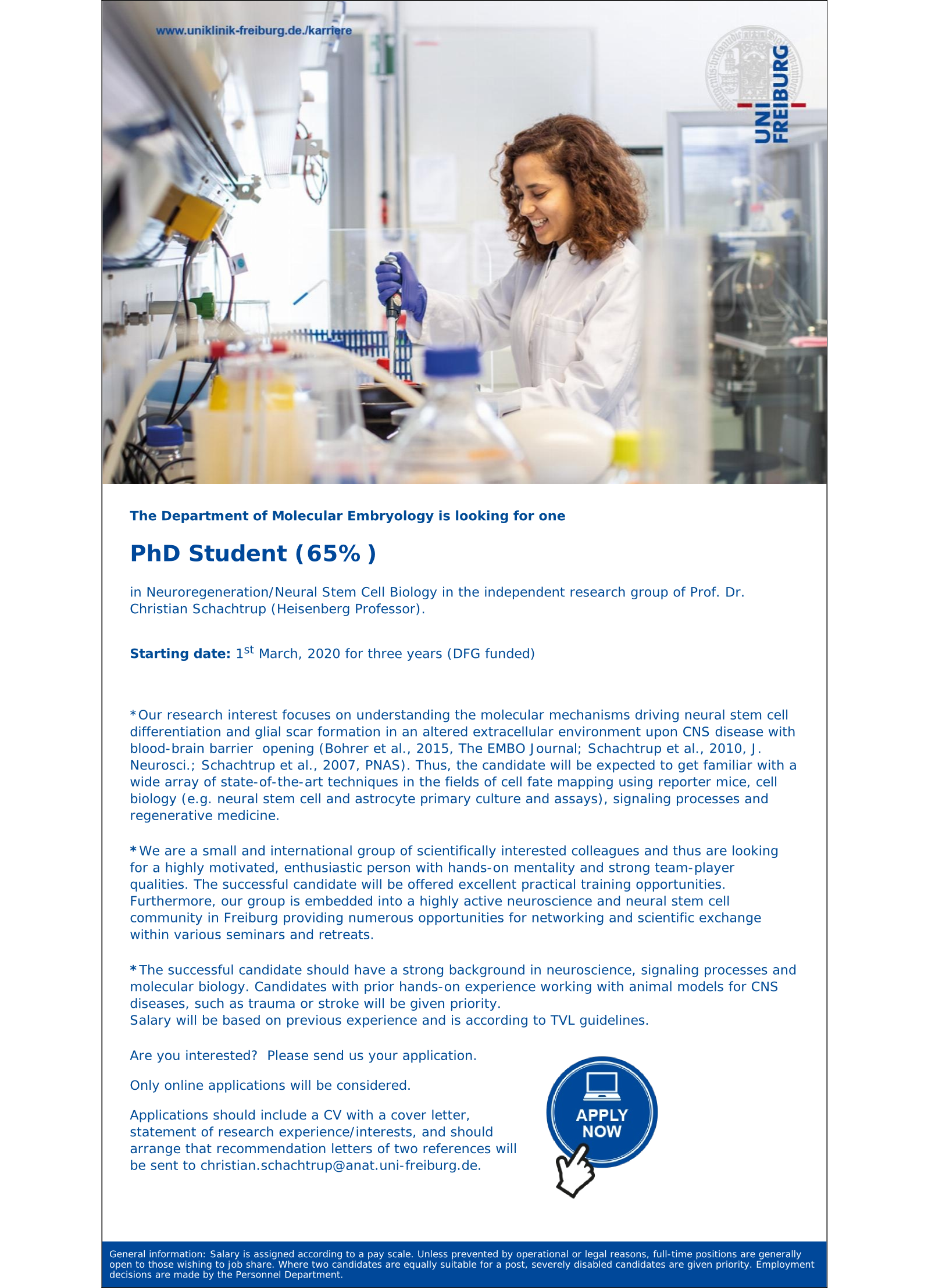 PhD Position Schachtrup Group