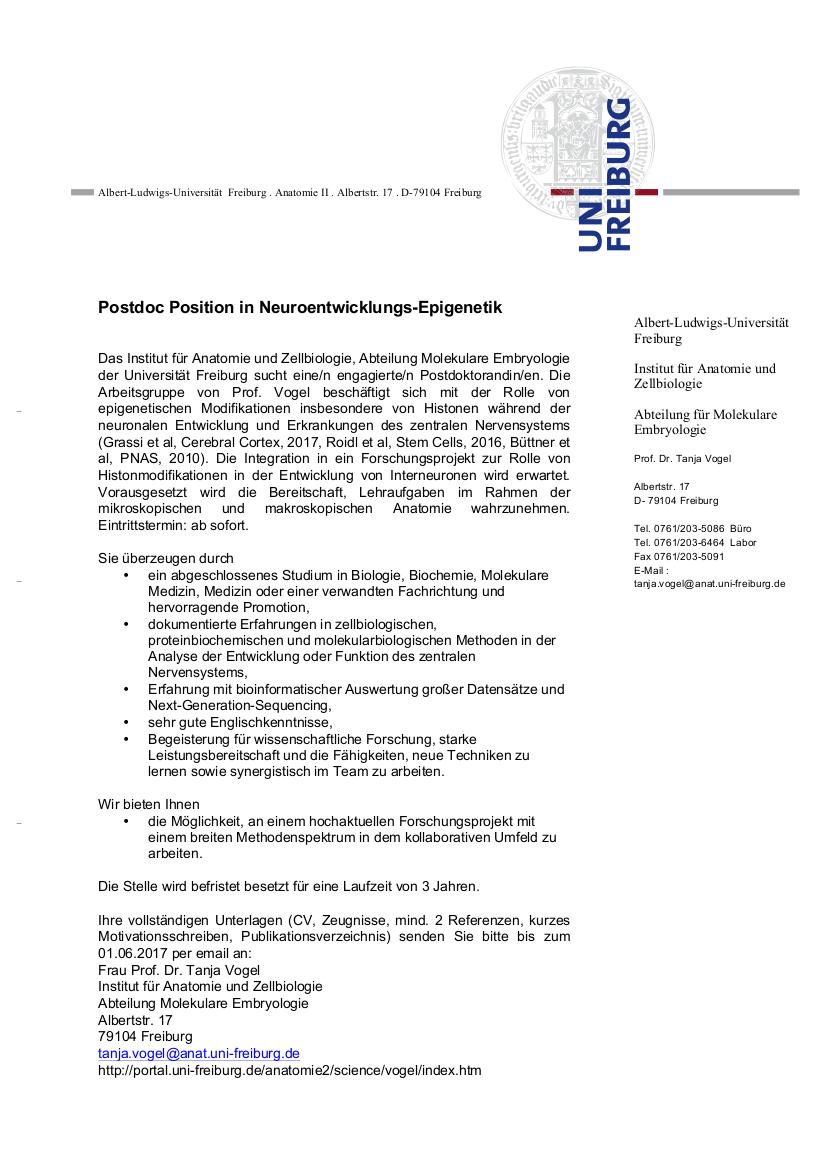 Institut für Anatomie und Zellbiologie, Abteilung für Molekulare ...