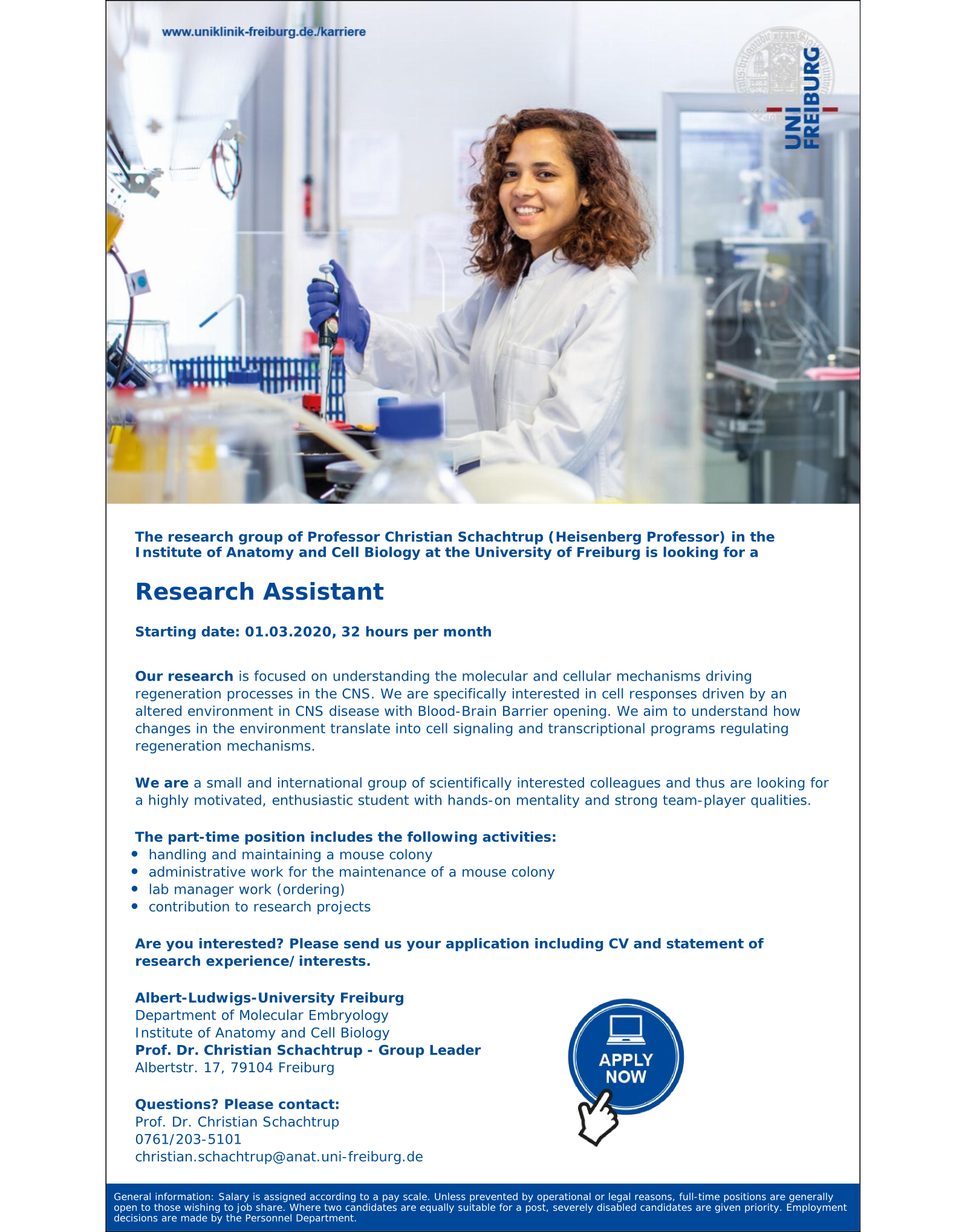 Research Assistant Schachtrup Group